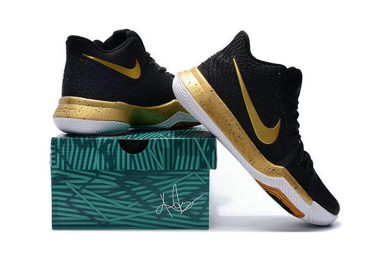 3a0b45d71b0 Kyrie Irving Shoes 3 2017 Championg Ship Gold Black