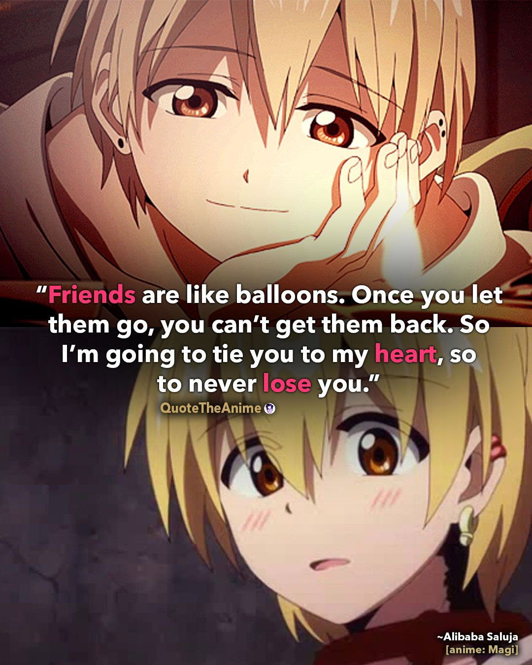 10 Powerful Magi Quotes Friends once you let them go you cant get them back Quote The Magi Quotes Alibaba Saluja Quotes
