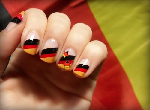 Pin By Stacie Slaughter Gottsch On Nails Flag Nails Nail Designs Nail Art