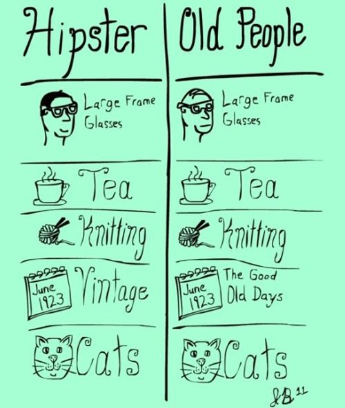 hipsters vs. old people haha