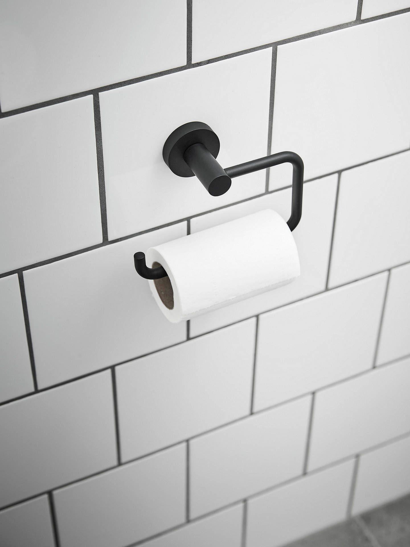 Miller Bond Toilet Roll Holder Black In 2020 Toilet Roll Holder Toilet Roll Holder Black Toilet Roll