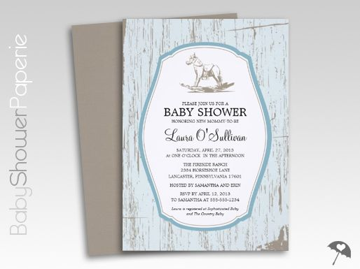 Rustic wood rocking horse baby shower invitations the world of rustic wood rocking horse baby shower invitations filmwisefo Gallery