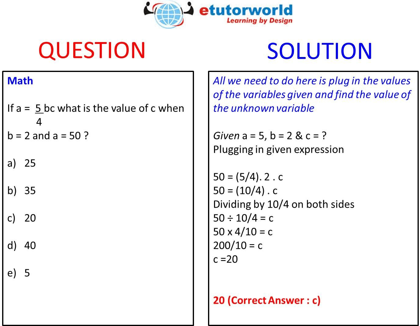 Questionoftheday Shows How We Can Find The Value Of An Unknown Variable In A Multi Variable Equation Learn Practice Math Tutor Math This Or That Questions