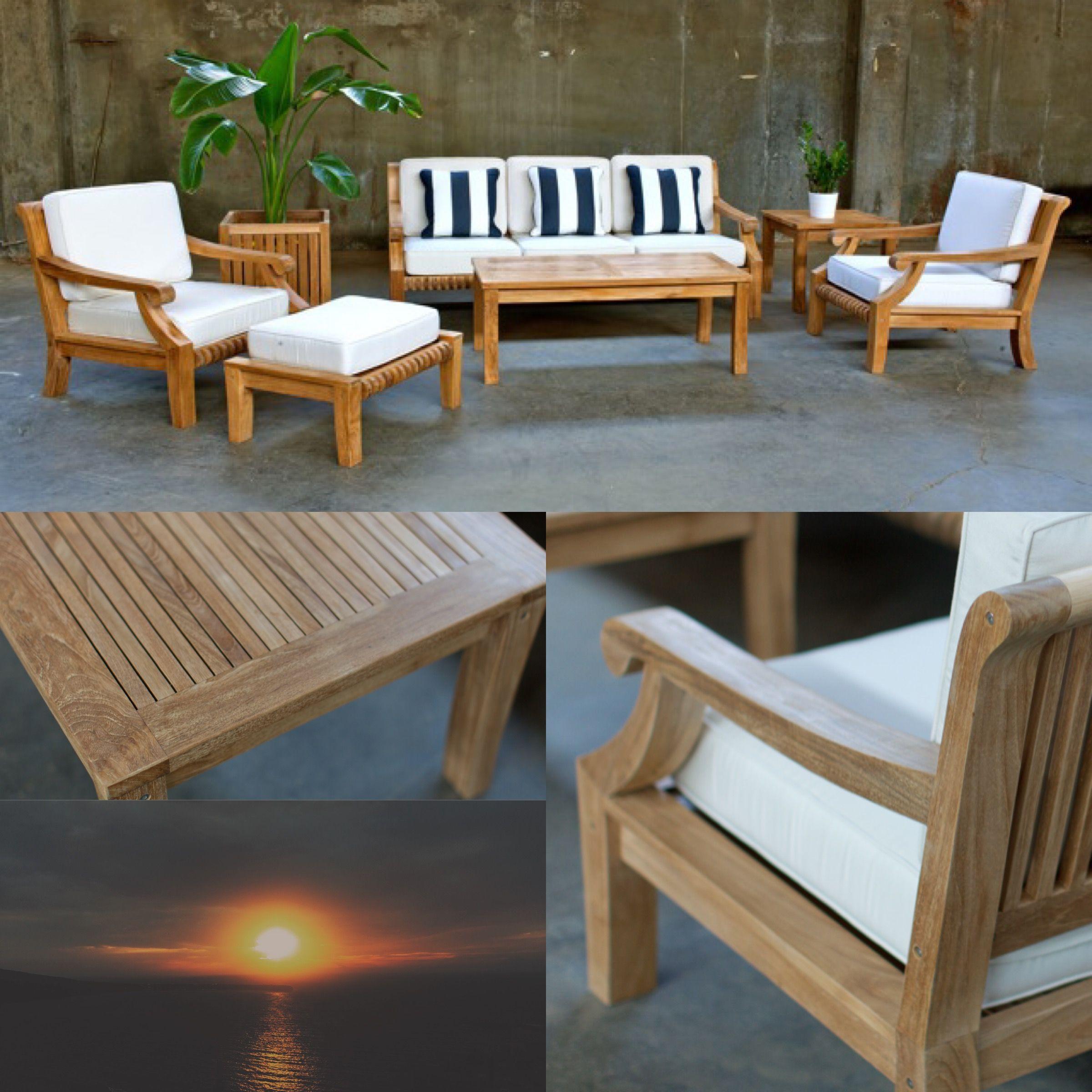6PC Rosana Deep Seating -Sustainable harvested teak ...
