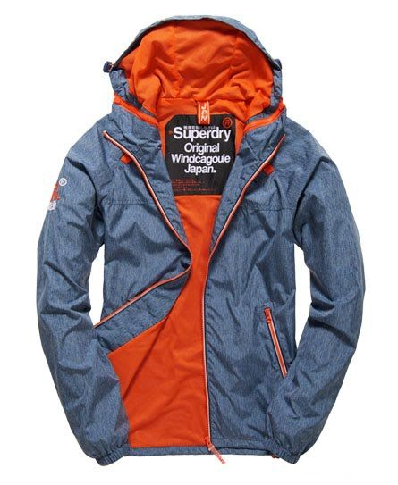 buy online 2da85 32bff Superdry Dual Zip Through Tri Colour Windcheater-Jacke Blau ...