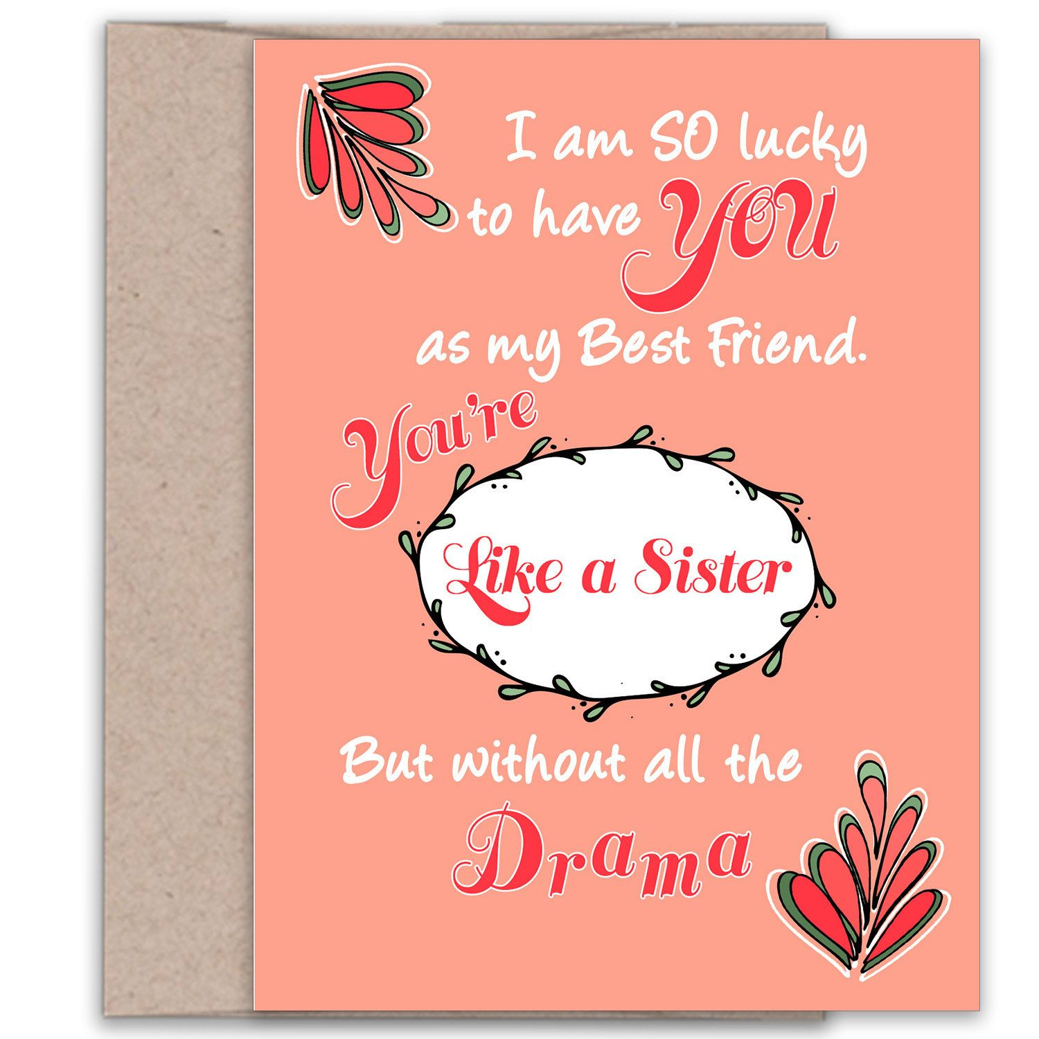Funny Best Friend Card Best Friends Day Best Friend Birthday
