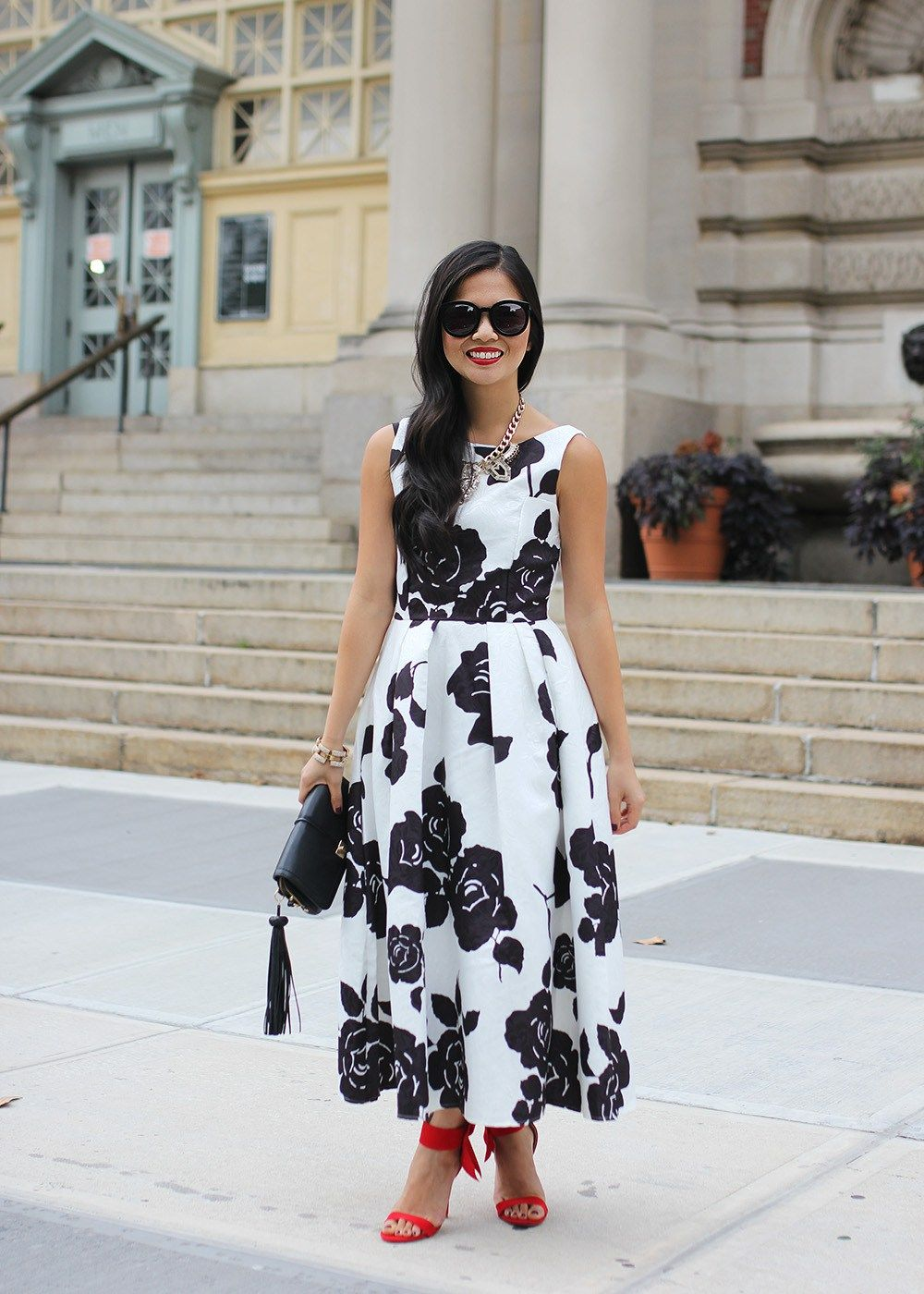 23+ Black and white floral dress ideas in 2021
