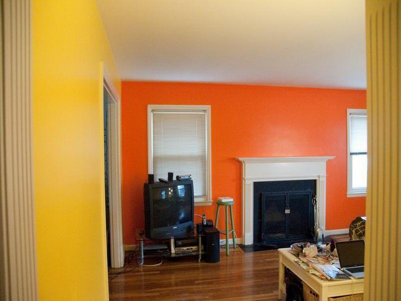 Yellow Orange Colour Combination Living Room