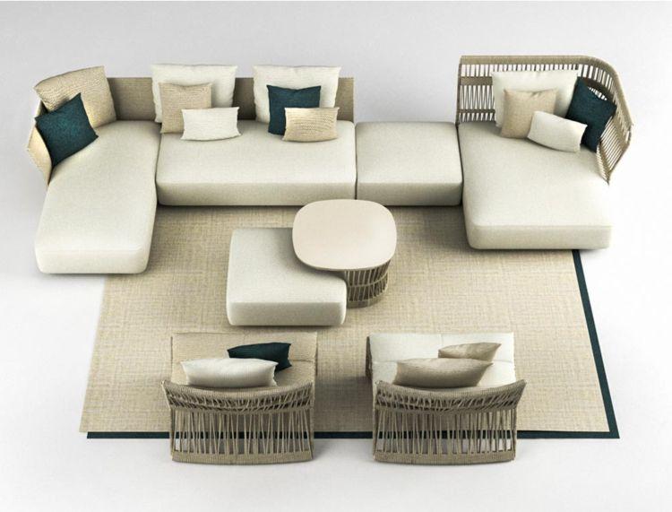 loungemoebel garten flexibel erweiterbar sonnenliege sofa Terrasse