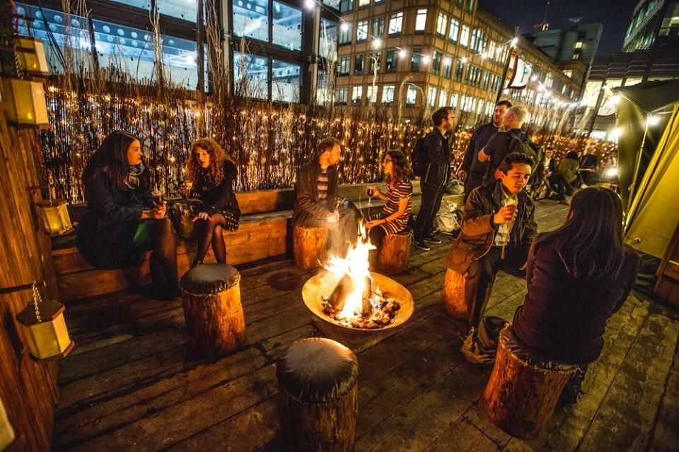 This Winter Queen Of Hoxton S Rooftop Transforms Itself