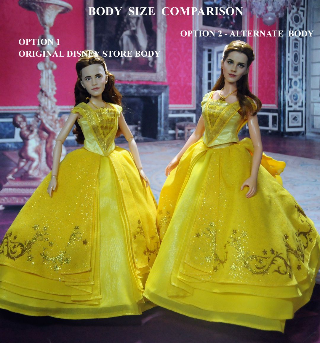 Dresses skirts clothes women disney store - Emma Watson As Belle Custom Repaint Of 11 Inch Disney Store Belle Doll From The Beauty