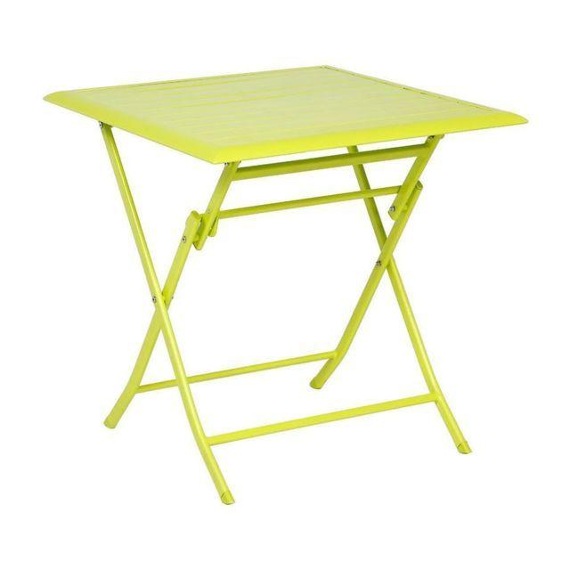 Hespéride Table aluminium Azua 2 places vert granny ...