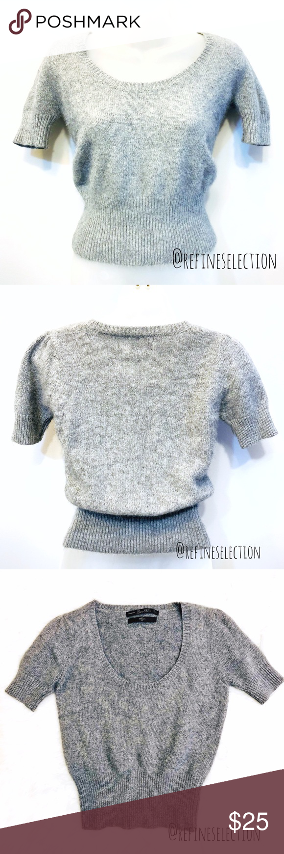 50d7d3245417 Zara Angora Grey Cropped Sweater Pre-loved in excellent condition