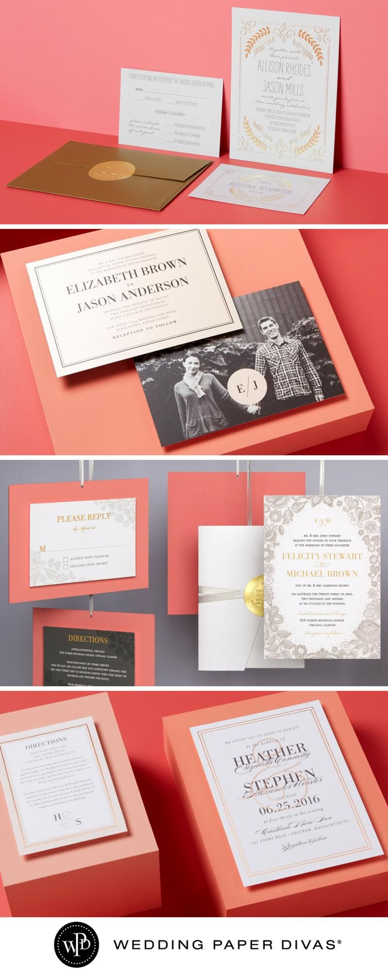 Find the perfect wedding invitations to suit your style, starting ...