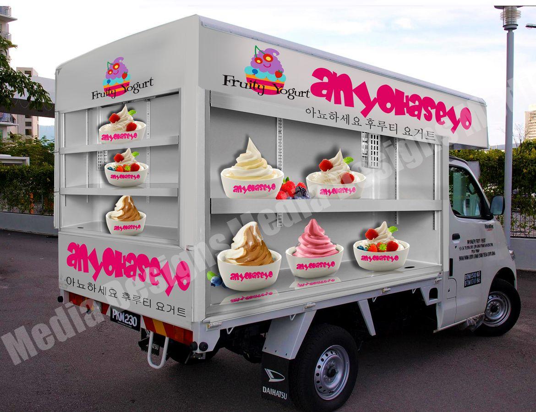 3d wrap design for a daihatsu van our trucks car wrap - Commercial van interiors locations ...