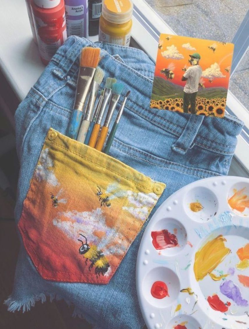 jean pocket painting ft. tyler the creator - #creator #ft #jean #painting #pocket #tyler