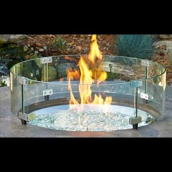 34 Glass Wind Guard Glass Fire Pit Outdoor Fire Pit Outdoor Fire