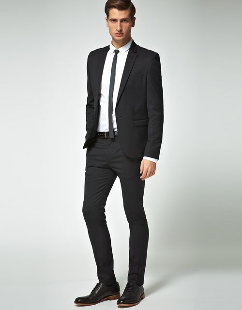 Black suit, skinny tie. | I could probably be a clothes horse ...