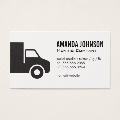 Corporate Truck Business Card Zazzle Com In 2021 Business Cards Trucks School Bus Driver