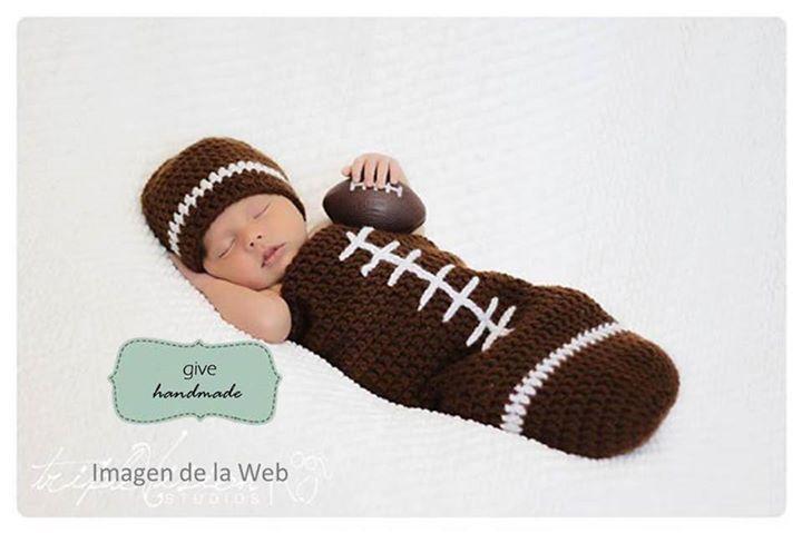 Balón de football americano   tejidos   Pinterest   Balon de futbol ...