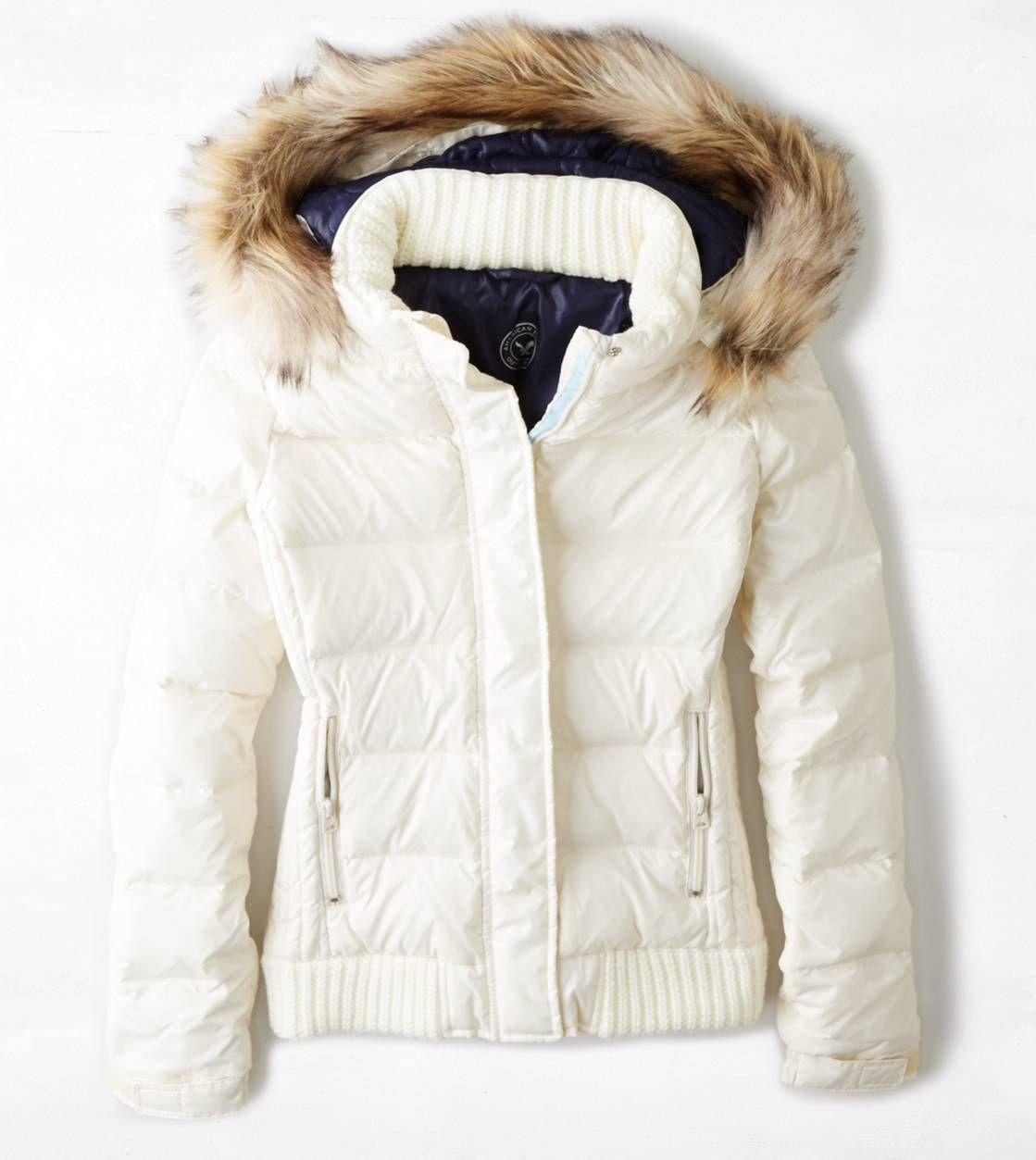 Ae Down Hooded Puffer Jacket Chalk American Eagle Outfitters Puffer Jacket Style Jackets Puffy Winter Jacket [ 1253 x 1119 Pixel ]
