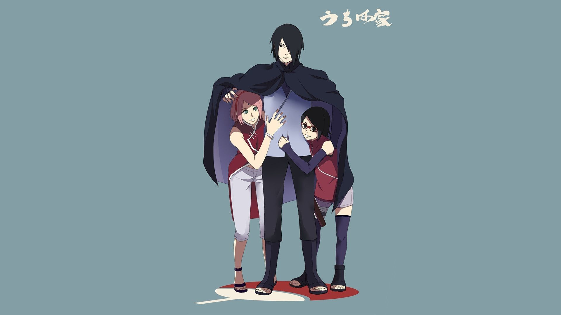 1920x1080 Anime Boruto Sakura Haruno Sasuke Uchiha Sarada Uchiha