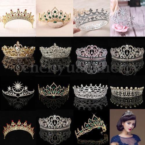 Wedding Princess Bridal Crown Crystal Rhinestone Pageant Headband Jewelry Tiara