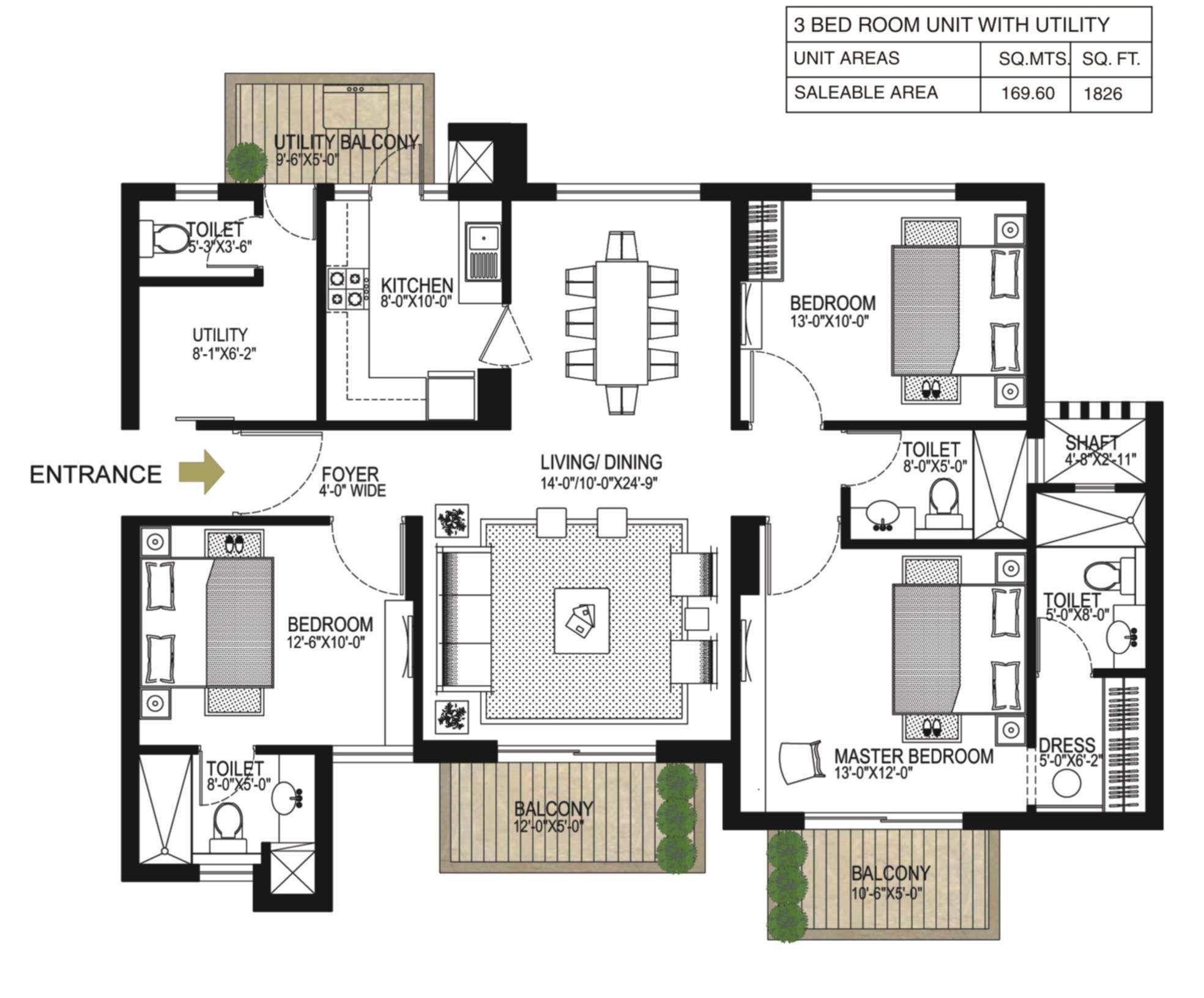alpha-g-corp-gurgaon-one-84-floor-plan-3bhk-3t-1826-sq-ft-216538 ...