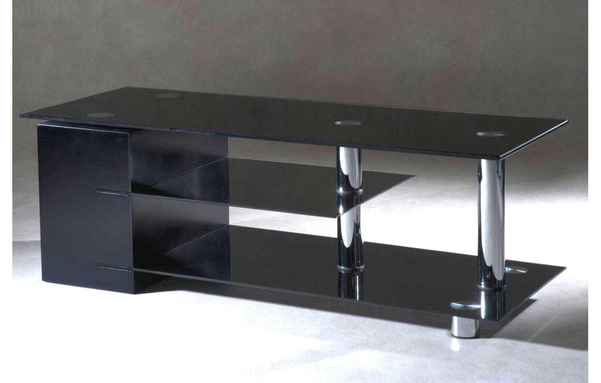 Meuble Tv Design En Verre Lepetitsiam Avec Meuble Tv Noir Design
