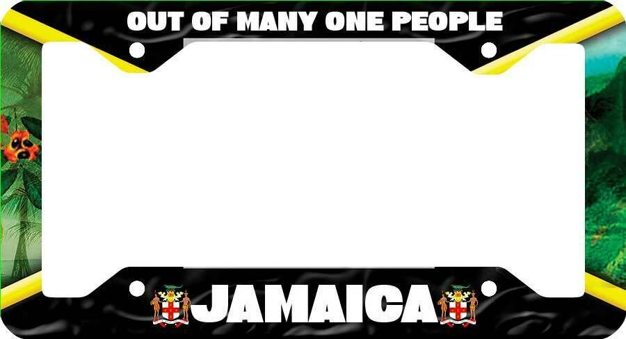 Jamaica Is My DNA License Plate Frame Tag Holder
