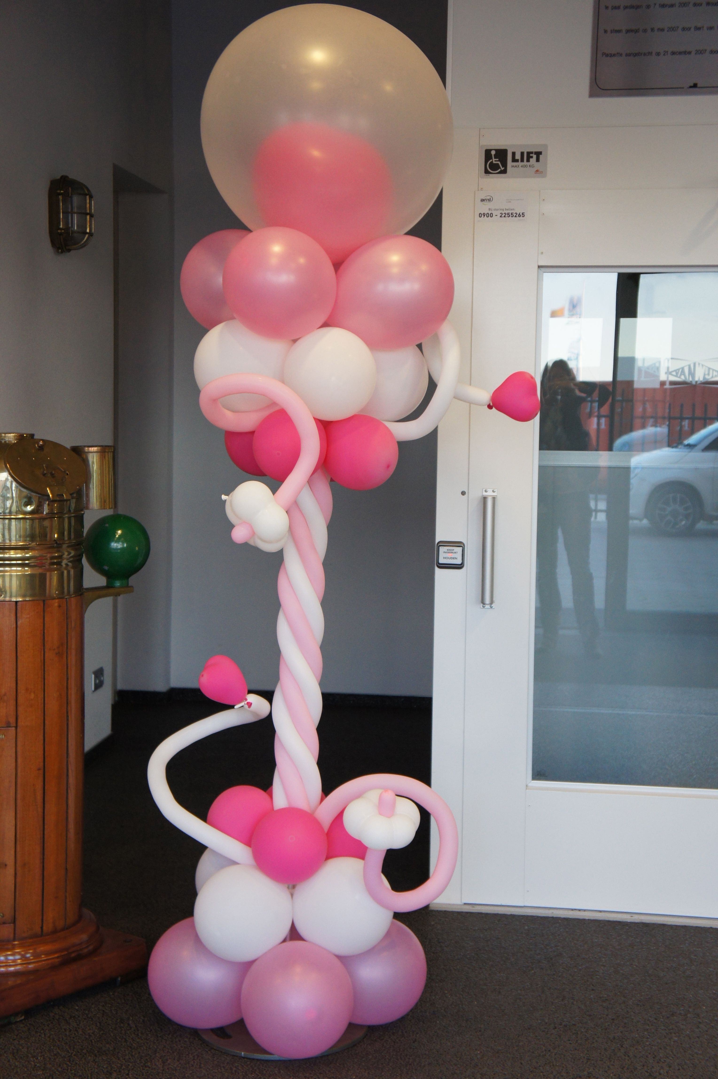 Kraamfeest decoratie ballonnen pinterest decoratie for Ballonnen decoratie zelf maken