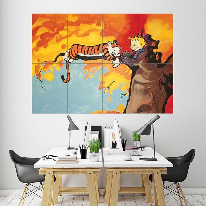 Hobbes Tree Block Giant Wall Art Poster