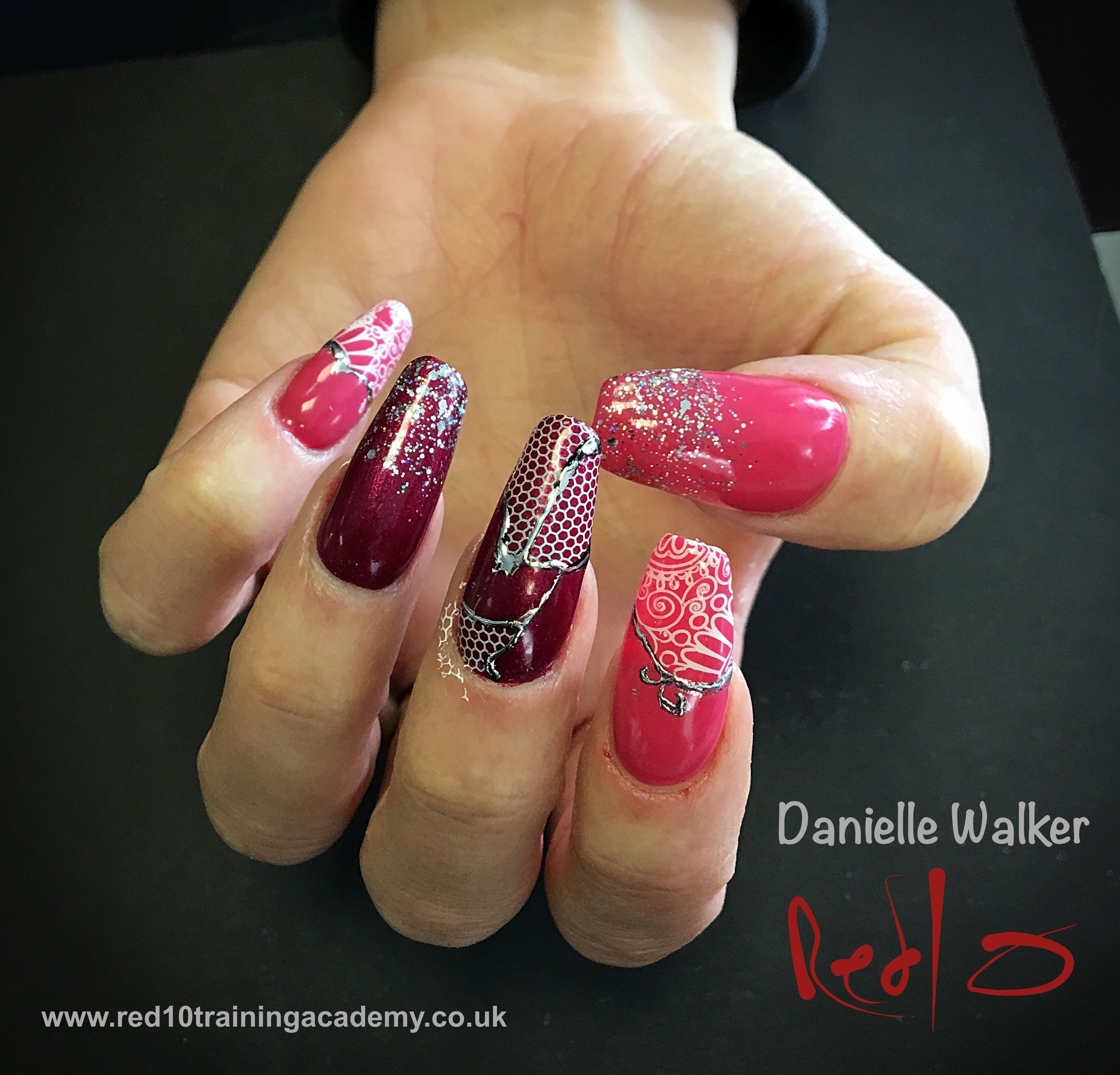 Gelish on Acrylic Nails. Fables & Fairytales Gelish. Moyra Foil and ...