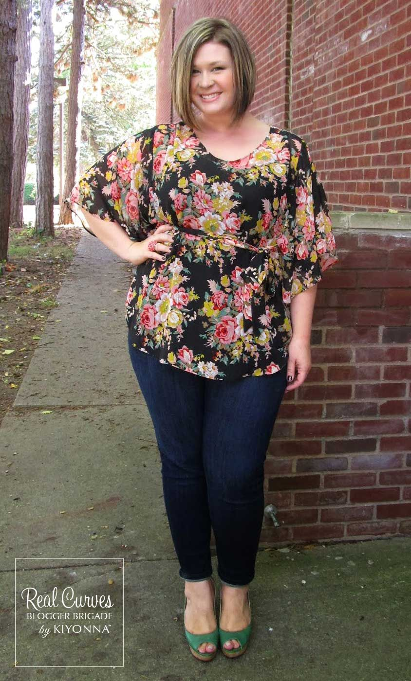 """2dbbb7e1dd4a7 Beautiful Blogger  Jessica Shelvik (5 7"""" and a size 1x) from Surely Sonsy  does it again in our plus size Chantal Chiffon Blouse that she was able to  borrow ..."""