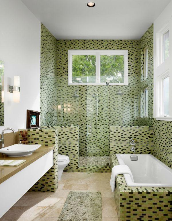 Le carrelage mosaique pour la déco de la salle de bains | Pinterest ...