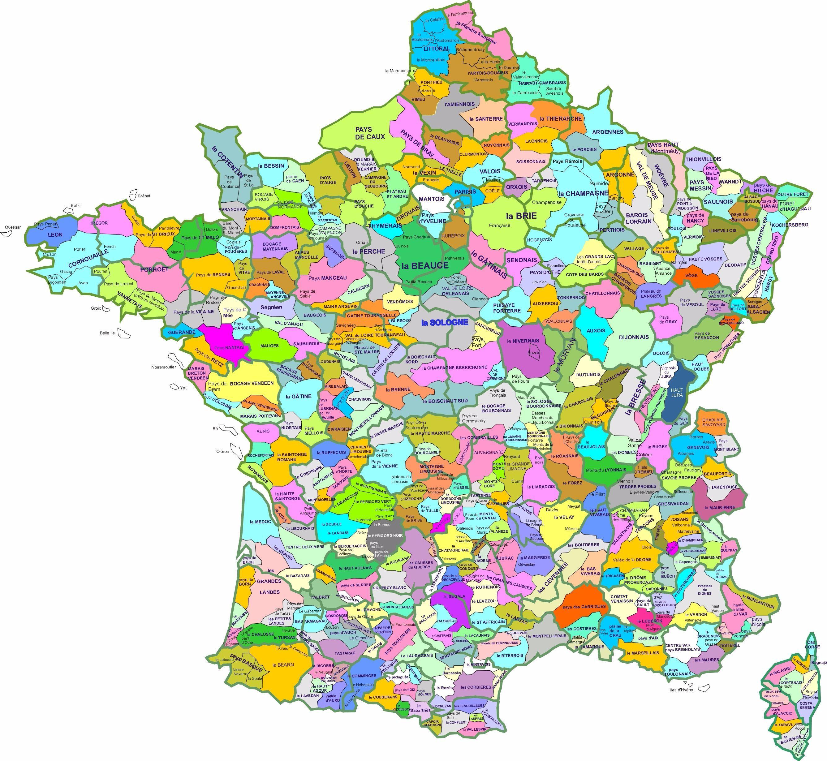 Les Regions Francaises D Antan Carte Des Regions Les Regions De France Carte De France