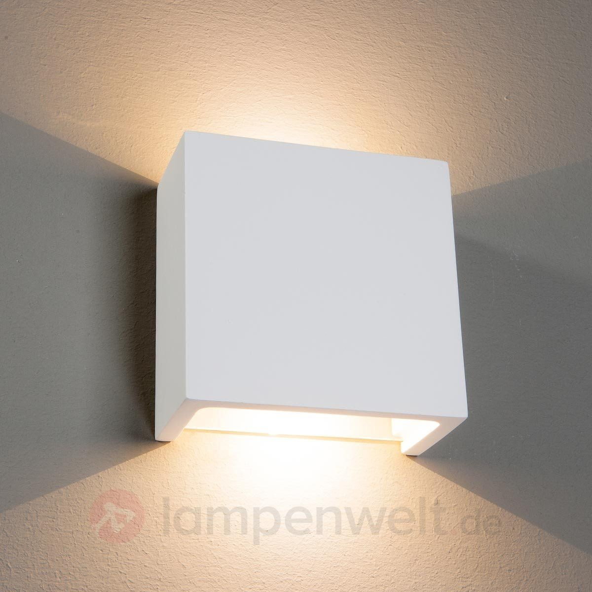 Led wandleuchte fabiola aus gips kaufen lampen for Lampen quadratisch
