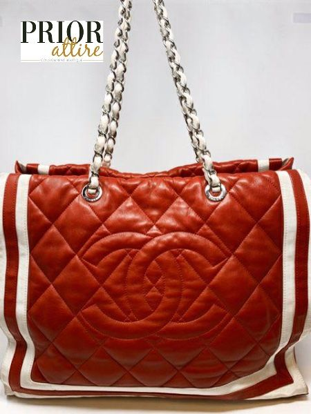 Chanel Venice Lambskin quilted leather tote in 2020 | Red ...