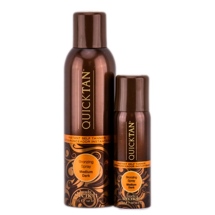 Body drench quick tan instant self tanner bronzing spray