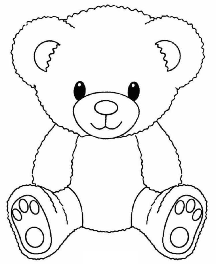 Cute Bear Coloring Pages In 2020 Teddy Bear Coloring Pages Teddy Bear Template Bear Coloring Pages