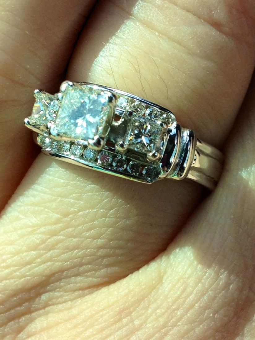 Custom wedding ring designed by me ring redesign pinterest for Redesign wedding ring