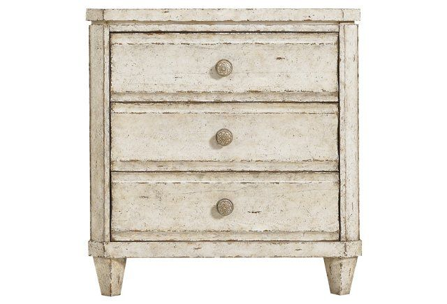 Ripple Cay Nightstand, Weathered White