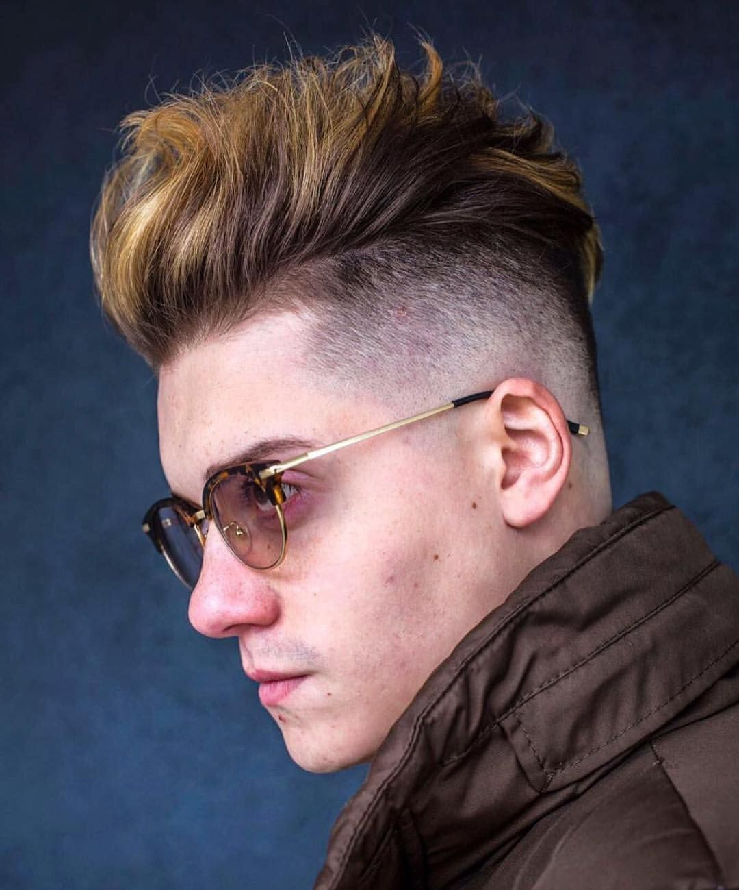 Undercut With High Volume Highlighted Quiff Quiff Hairstyles For