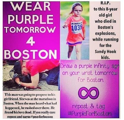 #PrayForBoston #PurpleForBoston
