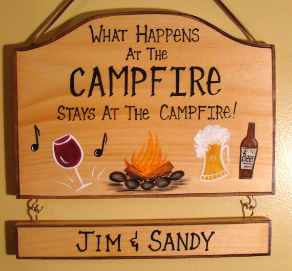 Custom What Happens At Camp Stays At Camp Sign With Name