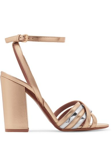 79537f71197d TABITHA SIMMONS Toni two-tone metallic leather sandals.  tabithasimmons   shoes