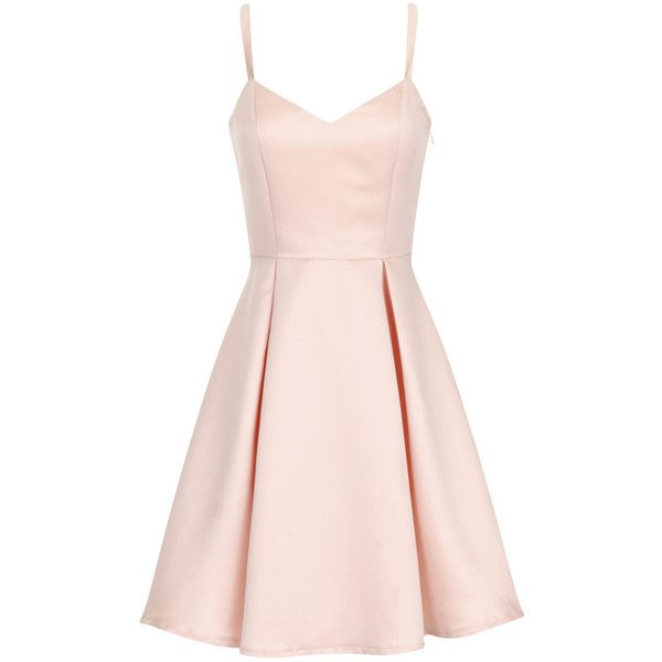 624bf93bad69 Girls On Film Nude Structured Bow Back Dress (36.780 CRC) ❤ liked on  Polyvore featuring dresses, vestidos, short dresses, pink, cream, pink  strap dress, ...