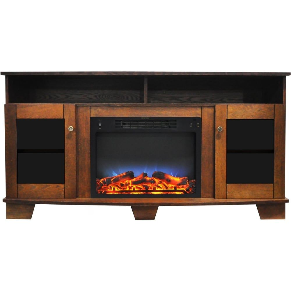 Best Cambridge Savona 59 In Electric Fireplace In Walnut With 400 x 300