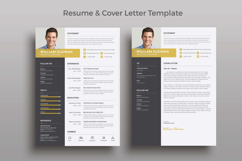 Resume/CV by ThemeDevisers on @creativemarket | Best Resume/CV ...
