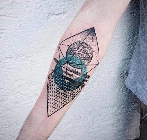 Imagem de tattoo and blue